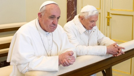 pope benedict and francis