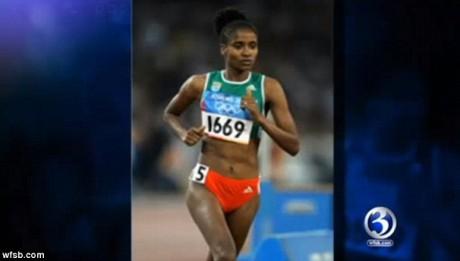 Heavily pregnant former Olympian, 26,