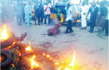 Angry Mob in Lagos State