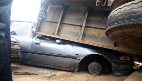 Tragedy struck in Abuja on Saturday when a woman was crushed to death