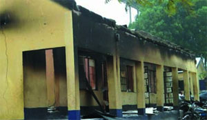 Suspected Boko Haram members have attacked and killed two officers at a police station in Gwoza town, Borno state in Nigeria's volatile north-east region. Security sources however say that the sect members lost seven of its members in the attack. A senior police officer who confirmed the attack and killings, but asked not to be named adds that suspected boko haram members opened fire on policemen at the Gwoza police station at about 8 a.m. yesterday. Gwoza is about 135 kilometres away from Maiduguri, the capital of Borno state where boko haram was formed. Security officials believe the sect has camps in Gwoza, where 11 soldiers on an anti-insurgency operation were killed in June.