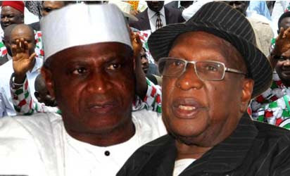 """The Abuja Division of the Federal High Court, yesterday, slated September 20 to commence hearing on the suit filed before it by the Bamanga Tukur led faction of the Peoples Democratic Party, PDP, seeking to declare activities of the """"New PDP"""" illegal. Justice Elvis Chukwu who presided over the case Friday, said he would hear both the substantive suit and preliminary objection filed against it by the respondents, led by the factional chairman of the party, Alhaji Kawu Baraje, on the same day. Other respondents who yesterday urged the court to dismiss the suit as lacking in merit included former Vice President, Atiku Abukakar, national secretary of the splinter group, Prince Olagunsoye Oyinlola and Baraje's deputy, Dr Sam Jaja. It was the contention of the respondents that the suit not only lacked competence, but constitutes a domestic affair of a political party. While challenging the jurisdiction of the court to hear the matter, members of the 'new PDP', insisted that the case ought to have been filed before a state or FederalCapitalTerritory high court. Arguing through their lawyer, Mr Raji Ahmed, SAN, the Baraje group, maintained that """"This action is incompetent and this Court lacks the jurisdiction to hear it. The subject matter revolves around the domestic affairs of Peoples Democratic Party. """"It is only in matters within the exclusive jurisdiction of the Federal High Court under section 251 of the 1999 Constitution (as amended) that can be competently entertained in this Court. """"The subject matter herein is not cognizable under section 251of the 1999 Constitution, and this Court does not have the jurisdiction to entertain it."""" Consequently, they asked the court for """"an order striking out the suit in its entirety for lack of jurisdiction."""" Meantime, determined to halt activities within the camp of the faction, Tukur and eleven national officers of the PDP, urged the court to restrain the four respondents from parading themselves as officials of the party. Equall"""