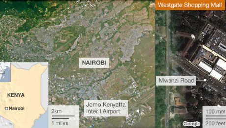 Kenya stand-off Amateur footage emerges