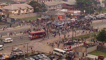 Chaos In Ikota, Lagos, As Trailer Crushes Children