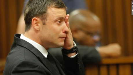 Pistorius cried on his first night behind bars