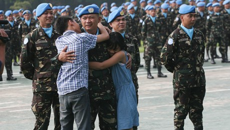 112 Philippine peacekeepers returned from Liberia will be quarantined