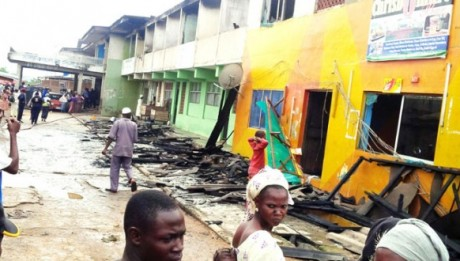 125-room house in Ibadan destroyed by fire