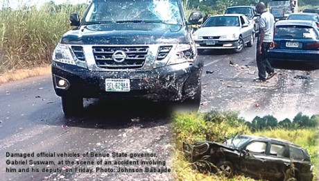 Benue State gov & deputy in auto crash