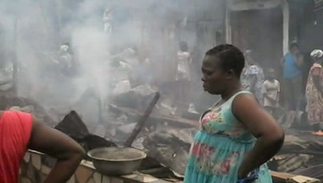 Fire Guts Market in Lagos
