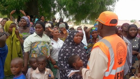 NEMA Donates Relief Supplies To Yobe Victims Freed By Boko Haram