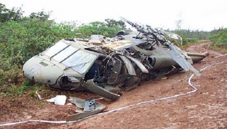 Nigerian Air Force Helicopter Crashes in Lagos