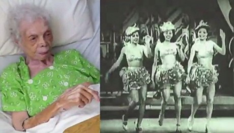 102 y.o Dancer Sees Herself for the First Time on Film