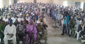 Pensioners in Ondo State addressing a press conference