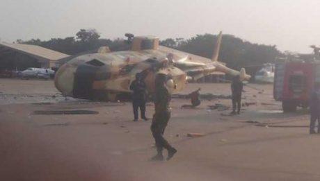 Presidential Aircraft Crashes in Makurdi