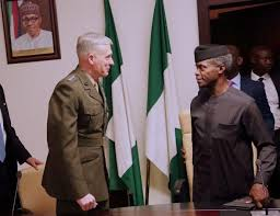 Yemi Osinbajo welcomes General Waldhauser