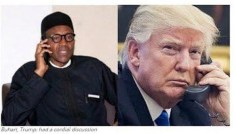 President Muhammadu Buhari and US President Donald Trump