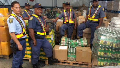 Customs Control officials in South Africa have intercepted three containers from Nigeria