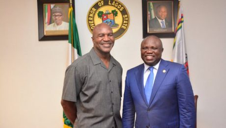 Holyfield Visits Ambode, Pledges $3m Health Facilities