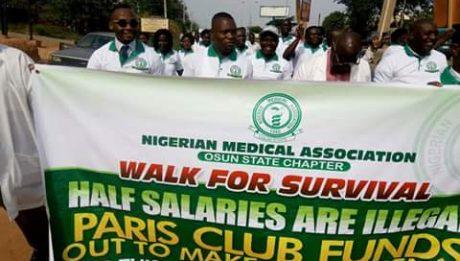 Osun Doctors Protest Against Unpaid Salaries