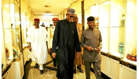 Buhari From London Hospital Bed Orders Aso Rock Cabals, Ministers, To Bow To Acting President Osinbajo