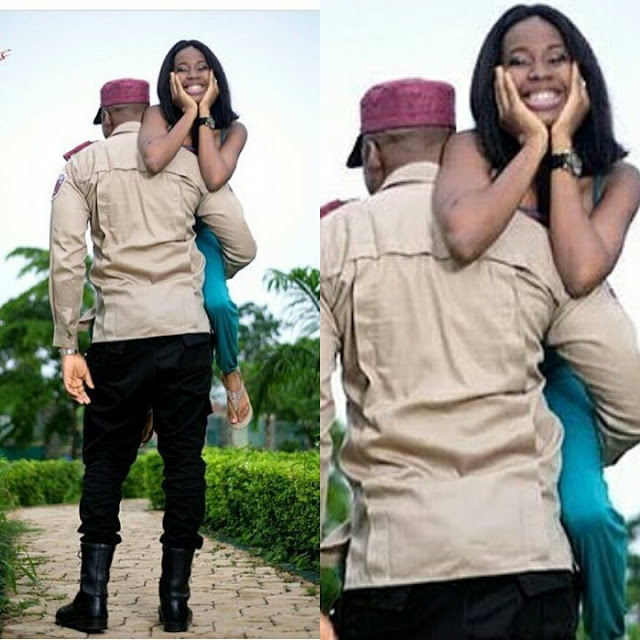This Ful Pre Wedding Photo Of Macho Frsc Officer And His Pee Fiancee Has Got The Media Buzzing As Users Have Tagged Them David