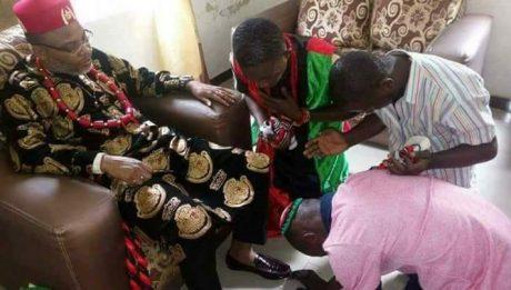 Nnamdi Kanu's Handshake 'Heals' IPOB Supporter Of 2-Months Chronic Disease