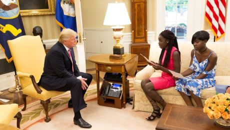 Escapees Chibok schoolgirls read letter to Donald Trump
