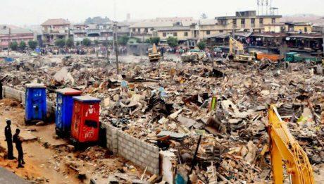 Lagos begins demolition of illegal structures in Obalende