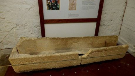 An 800-year-old stone coffin