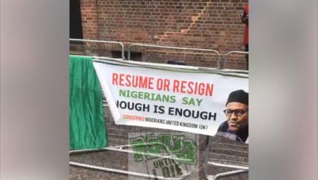 Vigil Protest Abuja House London