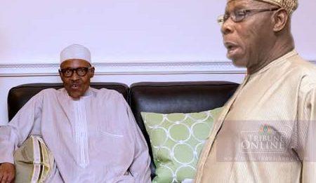 Obasanjo Visits Buhari In London
