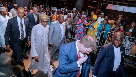 Buhari arrives New York, listed as 8th Speaker at UNGA