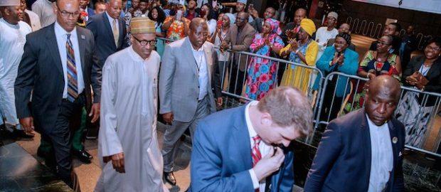 Buhari arrives New York, listed as 8th Speaker at UNGA