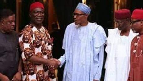 Ekweremadu, Abaribe, other Igbo Senators meet Buhari over IPOB, Nnamdi Kanu