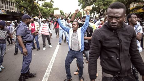 group of Nigerians in South Africa staged a protest