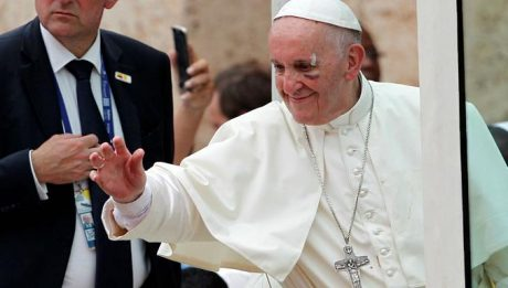 Pope Francis sustained minor injuries on Sunday