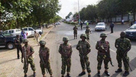 Soldiers storm Nnamdi Kanu's residence