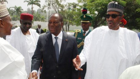 President Muhammadu Buhari and his Ivoirien counterpart, Alassane Ouattara