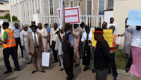 NAICOM workers protest unpaid salaries