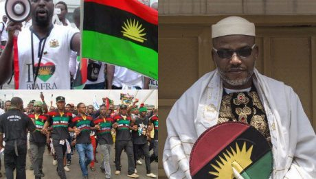 Protesters storm British High Commission, insist UK must produce Kanu to face trial in Nigeria