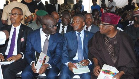 Buhari, Obaseki, Dangote discuss new investment prospects in Edo