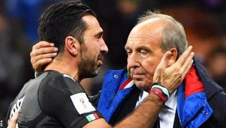 Italian players in tears at San Siro
