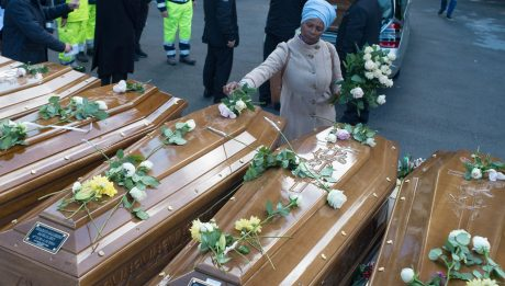 Italy buries 26 'drowned' Nigerian women, most without a name