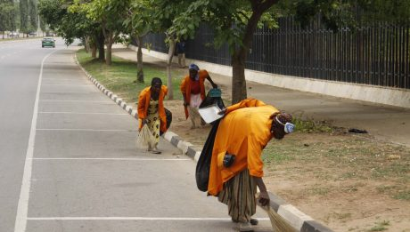 Street sweepers in Benin protest 7 months unpaid salaries