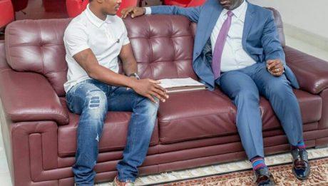 Odion Ighalo Meets Edo State Governor Godwin Obaseki