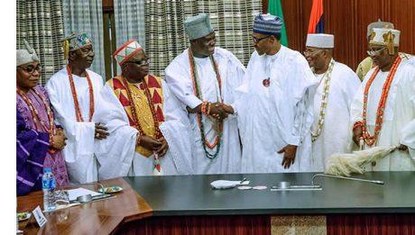 Yoruba monarchs meet with Buhari