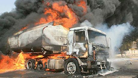 Vehicles razed as petrol tanker explodes in Lagos