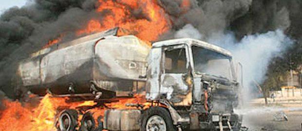 Vehicles razed as petrol tanker explodes in Lagos