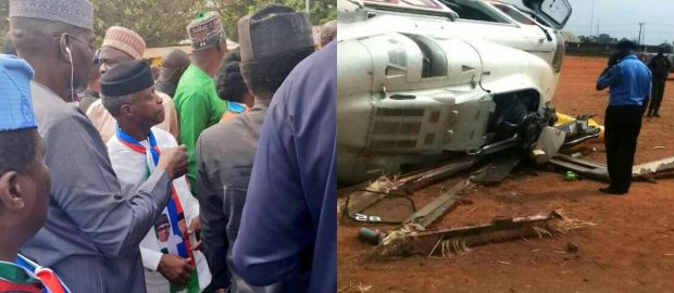 Atiku, Saraki, Fayose, others react as Osinbajo survives helicopter crash