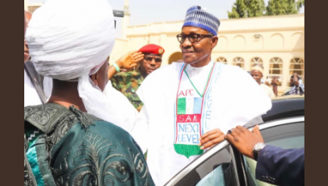Buhari arrives in Lagos for campaign